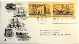 October 29, 1971 First Day of Issue, Art Craft Cover, Historic Preservat... - $2.24