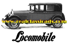 1926 Locomobile Cars Sales Service Dealer Logo T-shirt  Decal Signs Decals - $14.95+