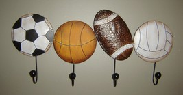 Sports Metal Wall Decor Football Soccer Basketball NEW
