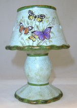 Butterfly Garden Lampshade Tealight Burner Ceramic  NEW