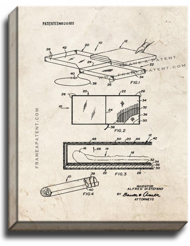 Primary image for Pizza Pie Warming Carrier Patent Print Old Look on Canvas