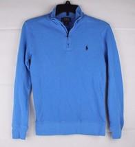 Polo by Ralph Lauren youth kids half zipper cotton pony logo blue size M... - $13.97