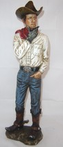 Country Cowboy Rustic Look Figurine - Polystone