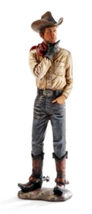 Country Cowboy Rustic Look Figurine - Polystone Western Ranch  image 5