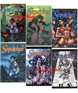 Don Paresi's ZOMBIE GORE HORROR SEPULCHER all 6 Issues. 1 SIGNED by 3 CR... - $29.65