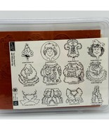 Stampin' Up! All Mixed Up 2 Step Stamping Rubber Stamp Set Wood Mounted - $19.20