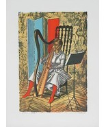 """PLAYING THE HARP"" BY ALAUX, JEAN-PIERRE EA SIGNED LITHOGRAPH 18 X 12 W/... - $171.06"