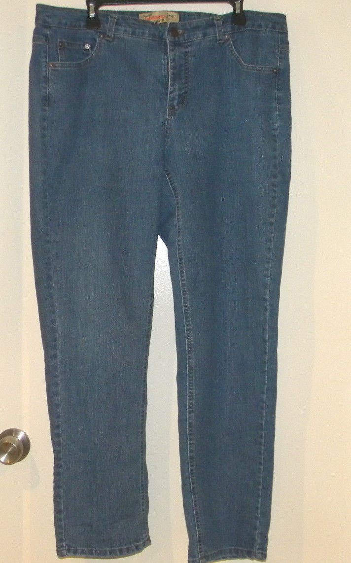 ba8d0df2b8cf2 57. 57. Previous. Womens NWOT Straight Leg 18W Blue Jeans Just My Size  Stretch Denim Classic Rise