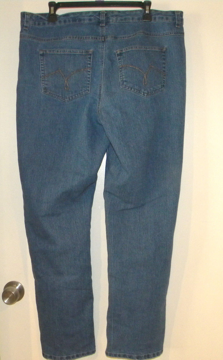 1e0ccfd532d82 Womens NWOT Straight Leg 18W Blue Jeans Just My Size Stretch Denim Classic  Rise