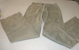 H&M Womens cotton linen Slacks pants 4 beige khakis chinos waist 28 x 29 inseam - $15.99