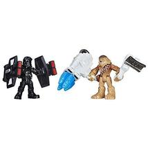 Star Wars Galactic Heroes Chewbacca & First Order TIE Pilot - $9.85