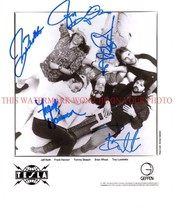 An item in the Entertainment Memorabilia category: TESLA BAND AUTOGRAPHED 8x10 RP PROMO PHOTO ALL 5  LOVE SONG