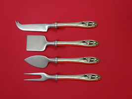 Silver Iris by International Sterling Cheese Serving Set 4 Piece HHWS  Custom - $289.00