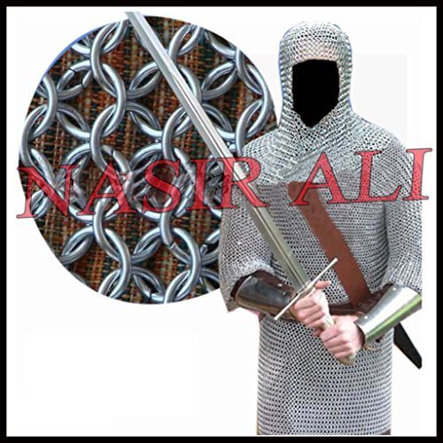 Primary image for Aluminium Round Riveted Chainmail Shirt 9MM 16G Reenactment Medieval Costume