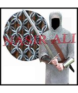 Aluminium Round Riveted Chainmail Shirt 9MM 16G Reenactment Medieval Cos... - $249.00