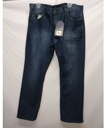 BEVERLY HILLS POLO CLUB MEN'S DENIM BLUE JEANS SIZE 38 X 32L MSRP $46 - $19.59