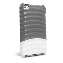 ifrogz Pulse Gray White Case Hard Cover /LCD Protector For iPod Touch 4G... - $7.40