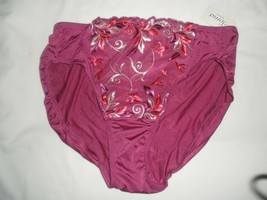 NWT  SOMA  SENSUOUS   HIGH LEG  WILD  ASTER    PANTY   SIZE MEDIUM - $12.86