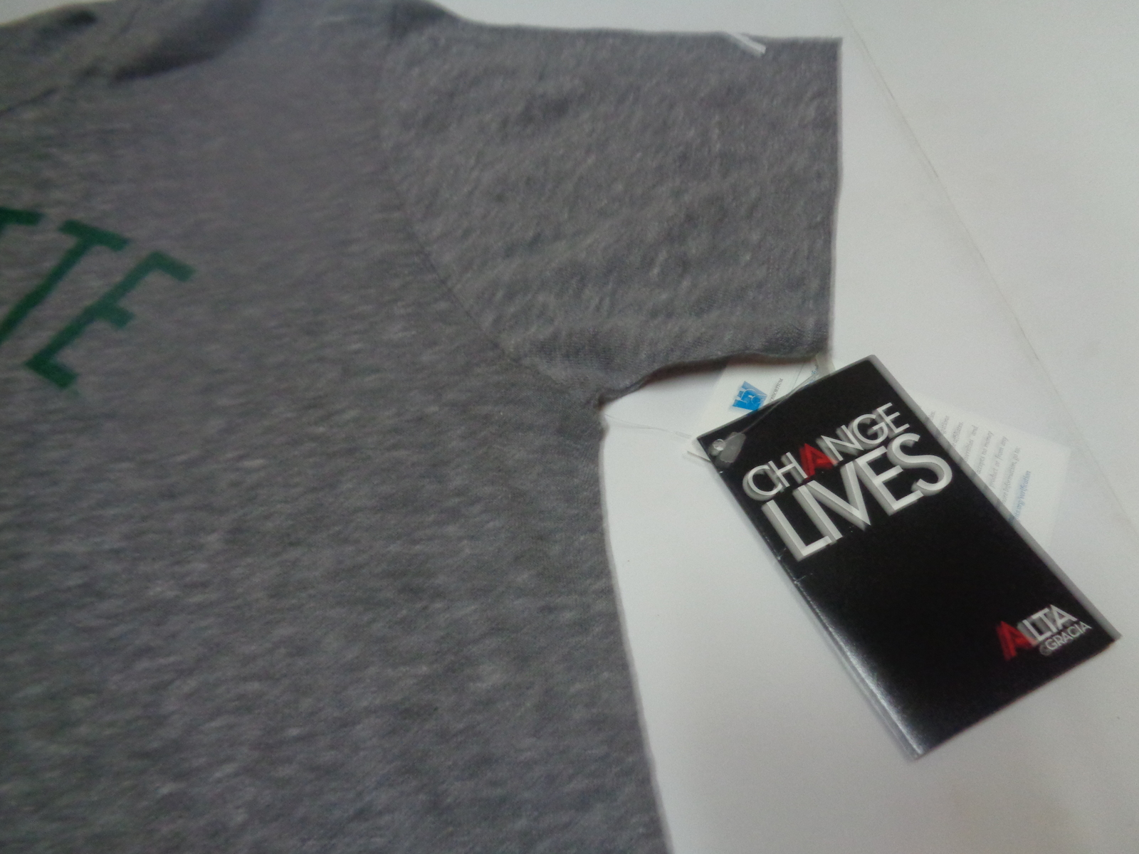 Charlotte 49ers Baseball T-Shirt Knight Apparel SZ L Gray Green Letters