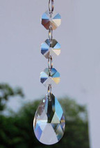 10Pcs/Set Clear  Glass Crystal Angel Tear Chandelier Prism Pendants Trimming - $12.19