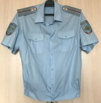 Genuine Russian Traffic Police Shirt Blue Uniform Shoulder Boards Size M... - $26.10