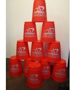 SET OF 11 Red  SPEED STACKS CUPS AND CARRY BAG  - $9.89
