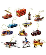 TIN TOY CHRISTMAS TREE ORNAMENT Choice of 12 Designs Retro Metal Collect... - $10.95
