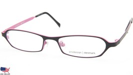 NEW PRODESIGN DENMARK 1217 c.6021 BLACK EYEGLASSES FRAME 46-15-125 B22mm... - $79.19