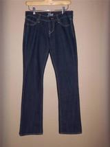 W7427 Womens OLD NAVY Dark Wash Blue Stretch Denim The Diva BOOT CUT JEA... - $12.60