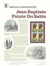 Official Jean B.P. Du Sable USPS Commemorative Panel (CP277) - $4.30