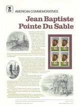 Official Jean B.P. Du Sable USPS Commemorative Panel (CP277) - $4.30