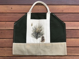 New! Ox Bow Decor!  Pine Cone  Log Carrier! - $46.39