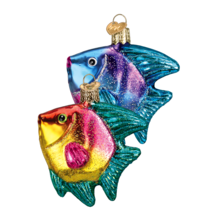 OLD WORLD CHRISTMAS SET OF 2 TROPICAL ANGELFISH AQUARIUM PET ORNAMENTS 1... - $25.88