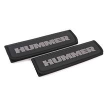 Seat belt covers Black shoulder pads Embroidered Grey emblem Fits Hummer... - $32.00