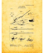 Pen or Pencil Grip Patent Print - Golden Look - $7.95+