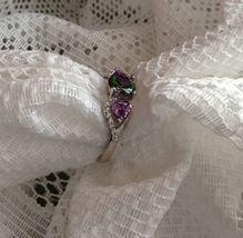 Oval Rainbow Mystic Topaz and Amethyst SS Sz 6,7,8 OR 10 image 2