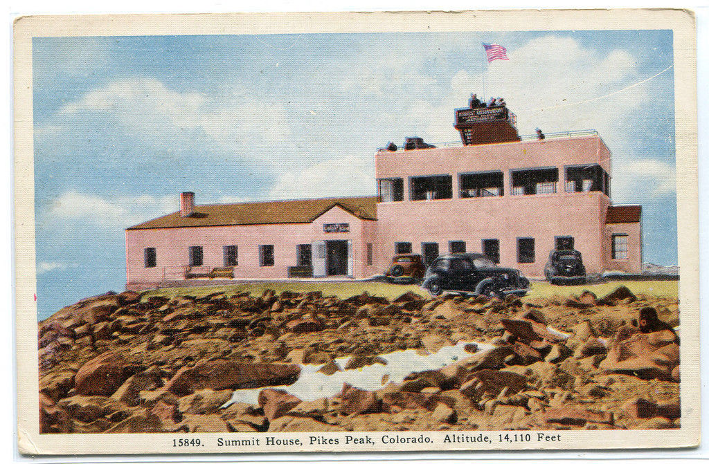 Summit House Pikes Peak Colorado 1948 postcard