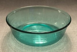 """Vtg Arcoroc France Jardiniere Teal /Turquoise 5.5"""" Soup Cereal Bowl-Ribb... - $6.95"""