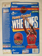 Empty Honey Frosted WHEATIES Cereal Box 1997 14.75oz MICHAEL JORDAN [G7E3f] - $15.15