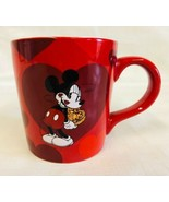 Mickey Mouse Mug Made With Love Large Coffee/Tea Cup Hearts Valentine Di... - $7.91