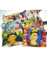 Frida Make Up Cosmetic Bag Coin Purse Pouch Mexican Kahlo Small Canvas S... - $13.99