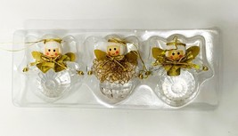 KURT ADLER Angel Christmas Tree Hanging Mini 2 Inch Ornaments Set of Three - $17.99
