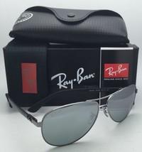 RAY-BAN Polarized Sunglasses Tech Series Rb 8313 004/K6 Gunmetal Aviator /Mirror - $269.95