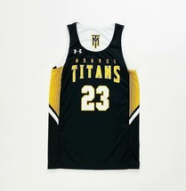 Under Armour Monroe Titans Reversible Basketball Jersey Youth Medium Bla... - $29.69