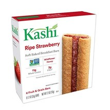 Kashi Soft Baked Breakfast Bars - Ripe Strawberry | Box of 6