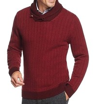 Tasso Elba Men's Red Combo Shawl Collar Ribbed Knit Pullover Sweater - $31.99