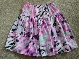 ALESSIA Pink and Purple Print Lined Skirt Girls Size 12 - £5.19 GBP