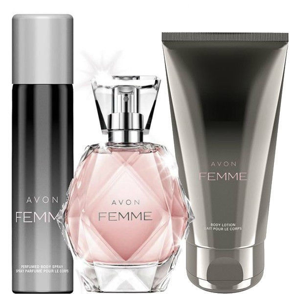 Avon  FEMME  EDP Parfum 50 ml + Free Body Lotion 150 ml Brand New Set