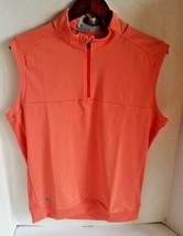 adidas Men ADI Golf Club Vest BC7268 Salmon Pink Shirt Size Small MSRP $65 - $37.76