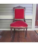 Antique Victorian Walnut Eastlake Parlour Side ... - $170.42